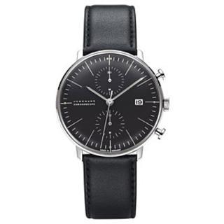 ユンハンス(JUNGHANS)のマックス ビル バイ ユンハウス クロノグラフ ブラック027 4601 00 (腕時計(アナログ))
