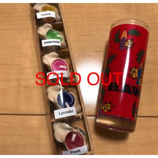 アロマキャンディ5個とお香立てセット(キャンドル)