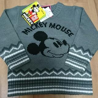 ディズニー(Disney)の新品未使用タグ付き ミッキーマウス ニット セーター サイズ90(ニット)
