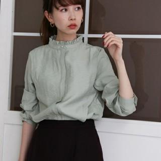 KBF - 新品タグつき《KBF》スタンドカラードレスシャツ//大人気☆ミント