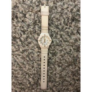 カシオ(CASIO)のCASIO 白 時計(腕時計)