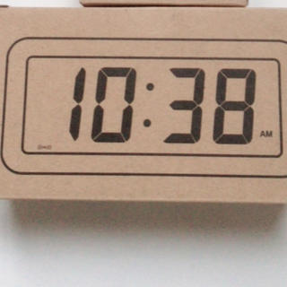 MUJI (無印良品) - 無印良品 デジタル時計・小(アラーム機能付)掛置時計 ホワイト