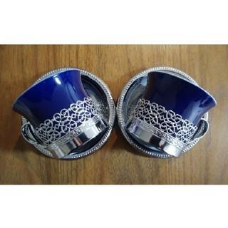 アラビア(ARABIA)のティーカップ ソーサーペアセット アンティーク(グラス/カップ)