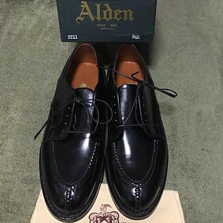 オールデン(Alden)のAlden(オールデン)2211 NST8.5D コードバン黒 未使用新品(ドレス/ビジネス)