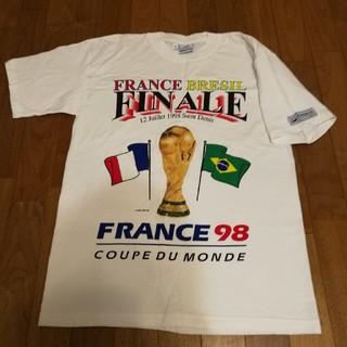 サッカーワールドカップ1998 フランス大会 記念Tシャツ フランス×ブラジル(記念品/関連グッズ)