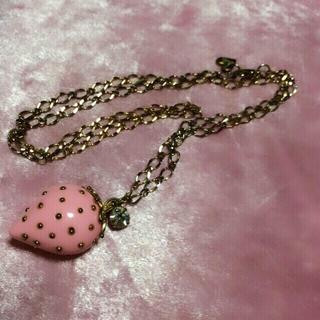 バービー(Barbie)のストロベリーネックレス☆*イチゴピンク(ネックレス)
