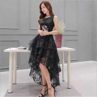 フィッシュテール ワンピース ワンピ パーティー ドレス M ブラック 黒