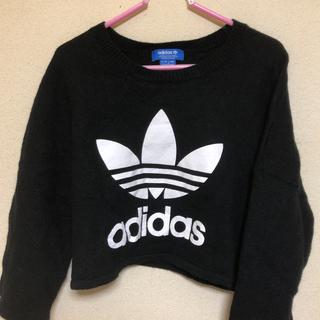 アディダス(adidas)のadidas トップス ドルマンショート丈 (Tシャツ(長袖/七分))