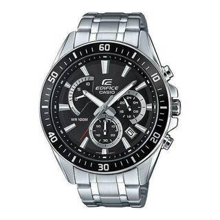 カシオ(CASIO)の新品CASIO EDIFICEブラック 100m防水 クロノグラフメンズ腕時計(腕時計(アナログ))