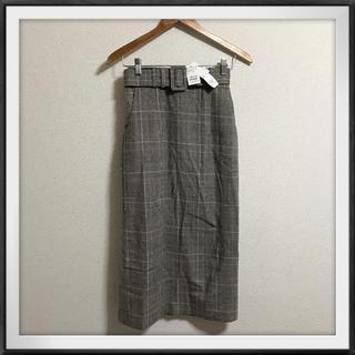スピーガ(SPIGA)のSPIGA 新品 ベルト付きチェックロングスカート(ロングスカート)