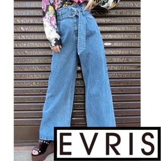 エヴリス(EVRIS)の◌⑅⃝♡⃝ EVRIS ハイウエストベルトデニムワイドパンツ ♡⃝⑅⃝◌(デニム/ジーンズ)