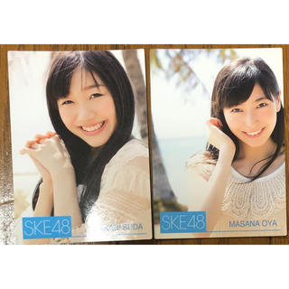エスケーイーフォーティーエイト(SKE48)の須田亜香里 大矢真那 トレーディングカード(女性タレント)