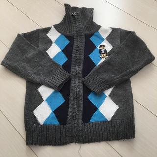 キッズ 前開きファスナー付きセーター(ニット)