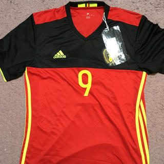 アディダス(adidas)の【新品】ベルギー代表 EURO2016 ホームユニフォーム 9番ルカク(ウェア)