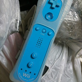 Wii - ニンテンドーWiiリモコンモーションプラスINSIDE 水色 送料込み