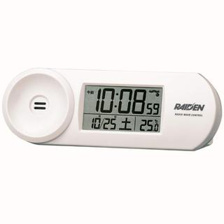 大音量 SEIKO デジタル電波目覚まし時計(白)(置時計)