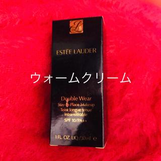 エスティローダー(Estee Lauder)の新品 ウォームクリームエスティーローダーダブルウェア3W0(ファンデーション)
