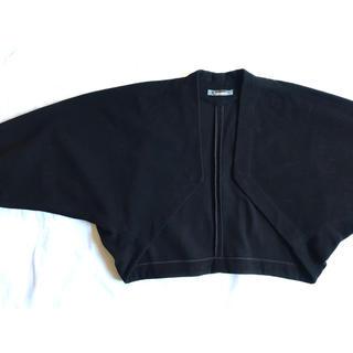 イッセイミヤケ(ISSEY MIYAKE)の【希少】80s イッセイミヤケ デザインジャケット ボレロ カシミア 黒 美品(ボレロ)