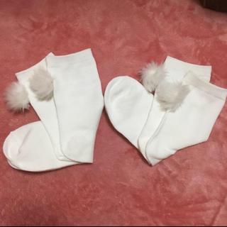 ジーユー(GU)のホワイト靴下2セット(ソックス)