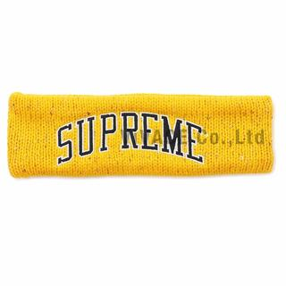 シュプリーム(Supreme)のNew Era Sequin Arc Logo Headband 黄(その他)
