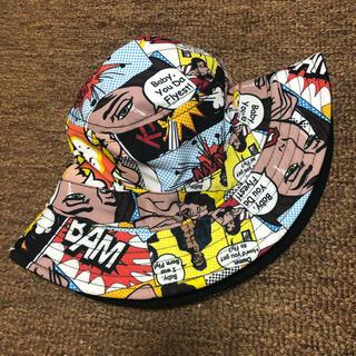 ステューシー(STUSSY)の新品 バケットハット 帽子 BORN FLY ボーンフライ アメコミ 総柄(ハット)