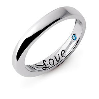 ファインスティール ブルーダイヤモンド メッセージ ペアリング(リング(指輪))