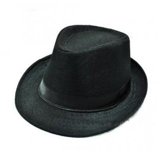 ハット帽 帽子 ユニセックス ブラック(ハット)