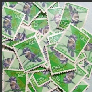 使用済み切手 ヤマセミ 200枚(切手/官製はがき)