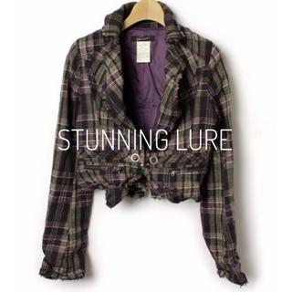 スタニングルアー(STUNNING LURE)のSTUNNING LURE《秋冬》チェック柄 ショート丈 ジャケット(テーラードジャケット)