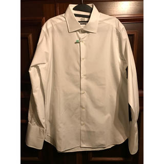 スーツカンパニー(THE SUIT COMPANY)のAZABU THE CUSTOM SHIRT 白 スリムフィット長袖シャツ 美品(シャツ)