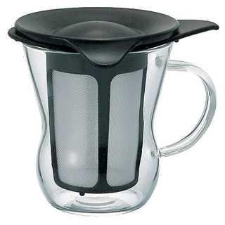 HARIO ワンカップティーメーカー 200ml ブラック OTM-1B(コーヒーメーカー)