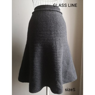 GLASS LINE ウールストレッチAラインスカート