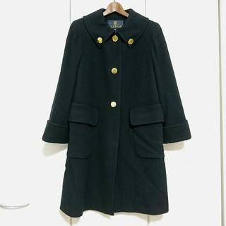 クレイサス(CLATHAS)の美品【クレイサス】ウール コート レトロ 黒(ロングコート)