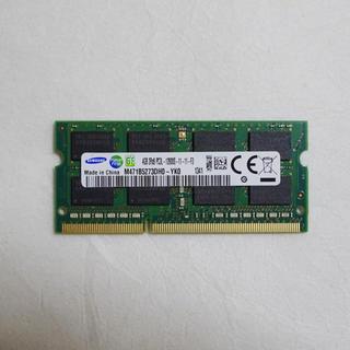サムスン(SAMSUNG)のノートパソコン用メモリ サムスン 4GB DDR3L  PC3L-12800S(PCパーツ)