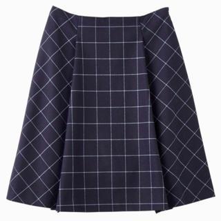 インディヴィ(INDIVI)の【INDIVI】☆チェックフレアスカート☆(ひざ丈スカート)