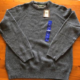 ジーエイチバス(G.H.BASS)の新品タグ付! G.H.BASS&CO 綺麗なブルー セーター サイズL(ニット/セーター)