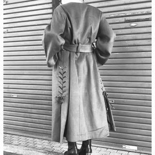 ジーヴィジーヴィ(G.V.G.V.)のG.V.G.V. WOOL SLIT & LACE UP COAT ロングコート(ロングコート)