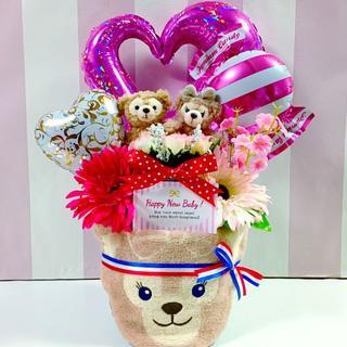 ●おむつケーキ シェリーメイ・ダッフィー2段 女の子 出産祝いに大人気!(その他)