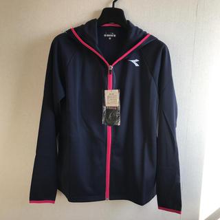 ディアドラ(DIADORA)のディアドラ フードジャケット 紺M 定価10584円 DTT8106(ウェア)