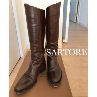 サルトル(SARTORE)のSARTORE ブーツ ジョッキーブラウン36 1/2(ブーツ)