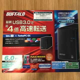 バッファロー(Buffalo)のbuffalo ハードディスク6TB  HD-WL6TU3/R1J 送料込み(PC周辺機器)