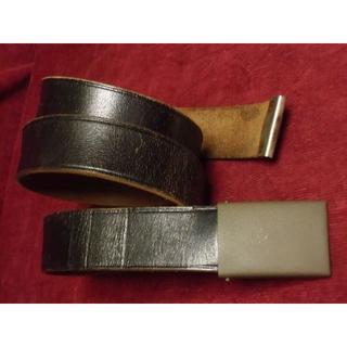 BWドイツ軍/連邦軍*スラックス/パンツ用・革ベルトバックル90cm(実物)(戦闘服)
