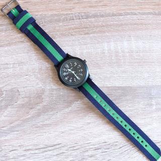 【新品未使用】キッズ 子供 腕時計 カジュアル グリーン(腕時計)
