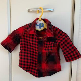 ギャップ(GAP)のGAP 0~3ヵ月用 チェックシャツ(シャツ/カットソー)