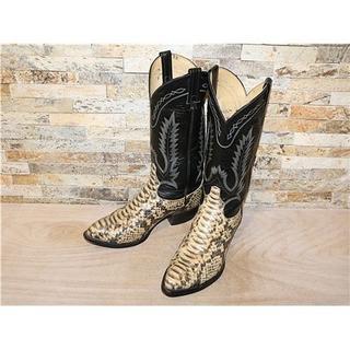 トニーラマ(Tony Lama)の超美品 トニーラマ パイソン型押し ウエスタン 黒 28cm(ブーツ)