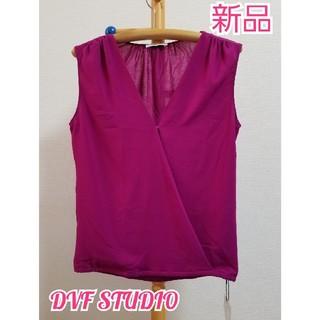 ダイアンフォンファステンバーグ(DIANE von FURSTENBERG)の新品⭐DVF STUDIO トップス⭐(Tシャツ(半袖/袖なし))