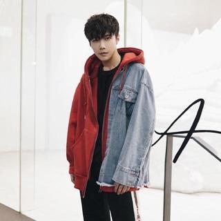 大人気! 2カラーデニムジャケット 韓国系 ストリート(Gジャン/デニムジャケット)