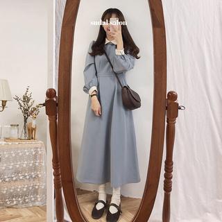 ゴゴシング(GOGOSING)の韓国 ブルー ロングワンピース(ロングワンピース/マキシワンピース)