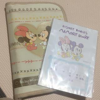 ディズニー(Disney)のベビーミッキー&ミニー 母子手帳ケース(母子手帳ケース)