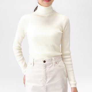 MUJI (無印良品) - 無印良品 首のチクチクをおさえた・洗えるタートルネックセーター